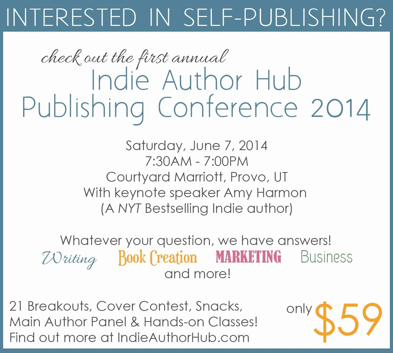 Indie Author Hub conference