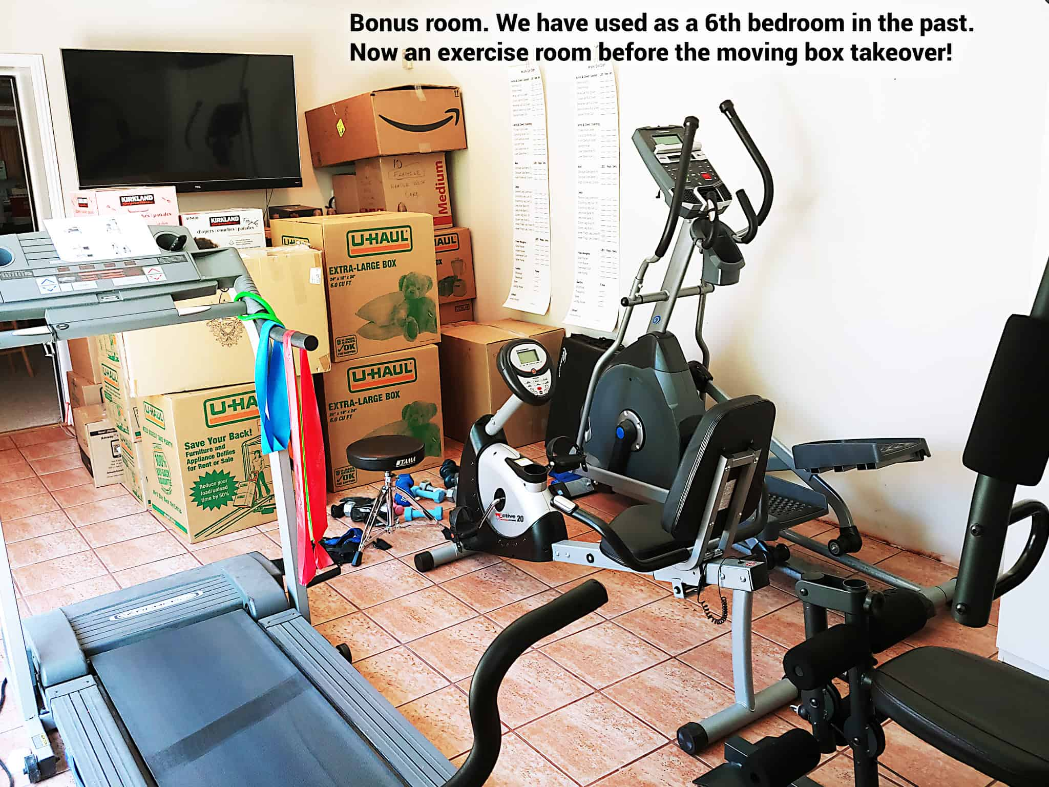 Exercise bonus room